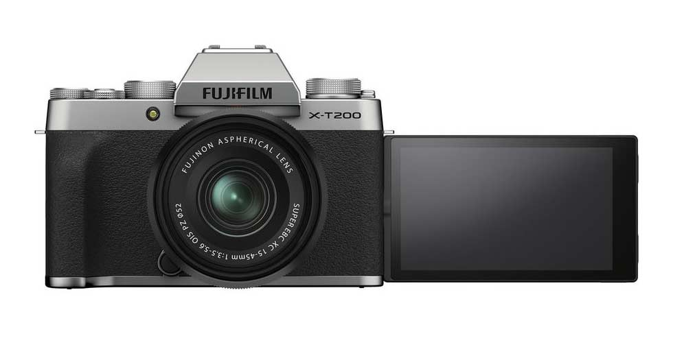 Fujifilm X-T200 s vyklopeným displejem